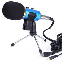 New Table Microphone Mic Tripod Stand Adjustable Metal Desktop Clamp Clip Holder