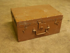 Vintage Antique Wooden Military Army Carpenters,joiners,Tool Equipment Box.