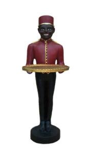 Butler Figur XL Diener Stummerdiener Ablage Statue 93 cm Dekoration Skulptur