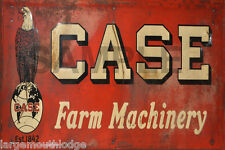 WEATHERED CASE FARM MACHINERY METAL BUILDING BARN DIORAMA LAYOUT SIGN 3x2