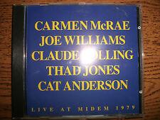 Carmen McRae/Joe Williams-Live At Midem 1979-1992 Musidisc-France!