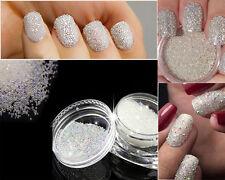 Crystal Glass Micro Caviar Beads Tiny Pixie Decorative Nails AB Design Nails