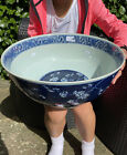 A huge 19th century Chinese blue and white bowl