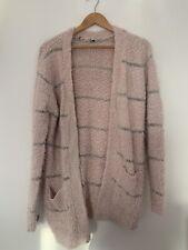 Ladies Cardigan Pink 10 Long Sleeve Acrylic Casual <JS3268