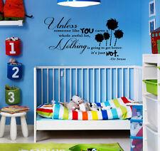 UNLESS Dr Seuss Quote Lorax Truffula Vinyl Decal Wall Bedroom Children Baby Gift