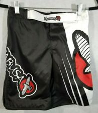 Hayabusa RED-BLACK-WHITE  Performance MMA Kickboxing Karate fight shorts