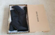 River island BNWT TIA Black over the knee Thigh high stretchy Boots 6/39