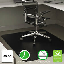 Deflecto EconoMat Anytime Use Chair Mat for Hard Floor 45 x 53 Black CM21242BLK