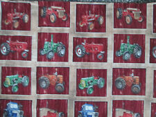 Tractors Farm Tractor Variety Multi Colors Red Cotton Fabric FQ