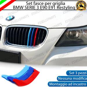 BMW SERIE 3 E90 E91 RESTYLING COVER PER GRIGLIA A 12 LINEE IN STILE BMW M SPORT