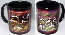 New ListingGreyhound Dog Ceramic 11 oz Mug Cup Whippets in the Garden Nib