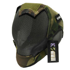 Airsoft Mask Military War Game Steel Mesh Paintbal Head Tactical Full Cover V6