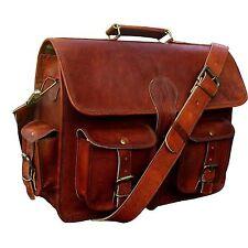 Men's Genuine Leather Vintage Breifcase Handmade Messenger Shoulder Laptop Bag