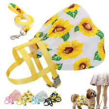 Fashion Floral Small Dog Dress Pet Cat Skirt Harness Clothes Puppy Summer Vest