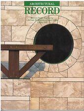 rivista - THE ARCHITECTURAL RECORD ANNO 1989 OTTOBRE