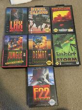 7 Sega Genesis Games, Desert Strike, Jungle Stike, F22, Night Storm, Talons CIB