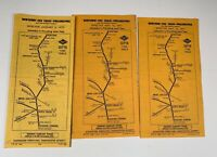 Septa Train Railroad Timetables Lot Newtown Fox Chase Philadelphia PA 1970s