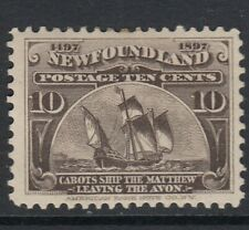 NEWFOUNDLAND 1897 - Mounted mint 10c 'Cabots Ship' SG73