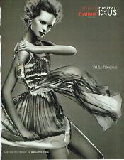 Publicité Advertising 117  2006  Canon appareil photo Digital Ixus