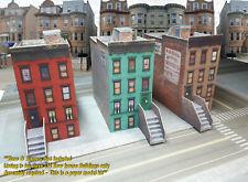 N Scale Buildings - 3 Row Houses -  PRE-CUT Cardstock (PAPER) Kit  RWHN1