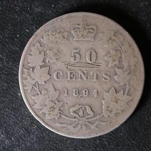 50 cents 1894 Canada Queen Victoria half dollar c ¢ G-4 problems