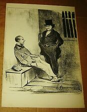 HONORE DAUMIER LITHOGRAPH LAW & JUSTICE BOOK PRINT SIGNED LAWYER FRENCH 10X14 a