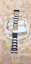Heritage Black Bay Tudor Style SS Oyster Bracelet Flip Lock Clasp Chrono GMT New