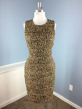 Calvin klein brown Animal print sheath dress Career Cocktail Excellent S 6 WOW!