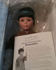 Hiawatha Native American Indian Boy Porcelain Doll Danbury Mint Wakeen MIB RARE
