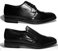BEARCHI scarpe mocassini uomo cerimonia classiche eleganti pelle nere lucide