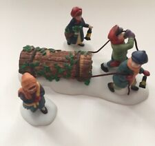 Bring Home The Yule Log Heritage Village Collection