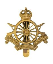 Army Cyclist Corps Cap Badge Brass Metal
