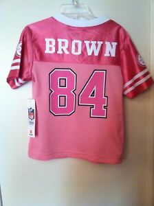 Pittsburgh Steelers NFL #84 Brown (Pink) Jersey Size Girls Toddler Size 3T New