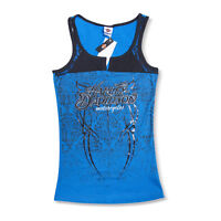 Harley-Davidson T-Shirt Biker Sleeveless Woman Tel Aviv Israel Light-blue