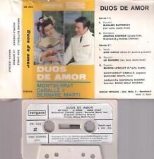 MONTSERRAT CABALLE y BERNABE MARTI Duos de amor DIFICULT SPANISH  cassette  1970