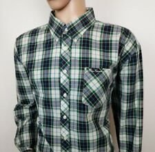 "Ben Sherman Mens Shirt Oxford Green Gingham Check Size 3X Big Tall Chest 52"" New"