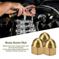 M3-M12 Durable Brass Acorn Nut Kit Dome Head Cap Hex Nuts Set Vehicle Fasteners