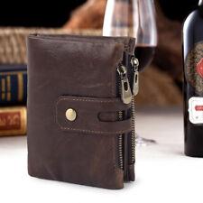 Vintage Men RFID Antimagnetic Genuine Leather 14 Card Slots Coin Bag Wallet