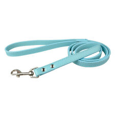 "Durable  Leather Dog Leash for Dog Training Pink Blue Red Black Yellow 48"" Long"