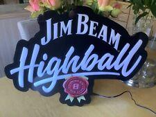 Jim Beam Highball LED light up pub wall mancave bar sign