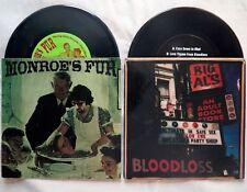"BLOODLOSS vs MONROE'S FUR Lubricated Goat Mudhoney RENESTAIR EJ grunge 2X 7"" LOT"