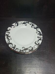 "Ciroa Luxe metallic silver Fiori scroll swirl 6"" Appetizer plate replacement"