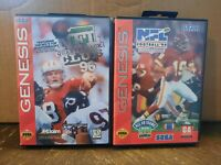 2 Sega Genesis NFL Football Games, Quarterback Club 96, NFL Football '94