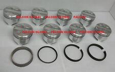 "Sealed Power/Speed Pro Pontiac 455 Cast Flat Top Pistons+Rings Kit/Set +.040"""