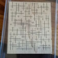 New in box Stampin Up Cross Hatch Lines Background Wood Rubber Stamp 2005