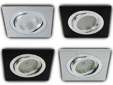 LED ALU Einbauspot schwenkbar Einbaustrahler Einbauleuchte Set SMD 230V GU10 TOP