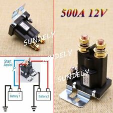 AU 4 Pin 500A 12V Car Auto Power Switch Dual Battery Isolator Relay Start On/Off