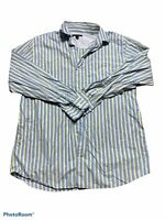 banana republic mens long sleeve button down multicolor striped shirt size large