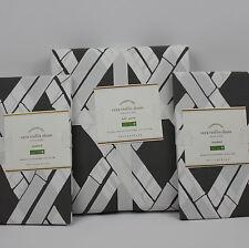Pottery Barn Full / Queen Cera Trellis Print Duvet Cover & 2 Standard Shams NEW