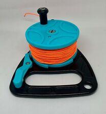 Scuba Diving Ratchet Reel Light Blue with Orange line 270ft/83m